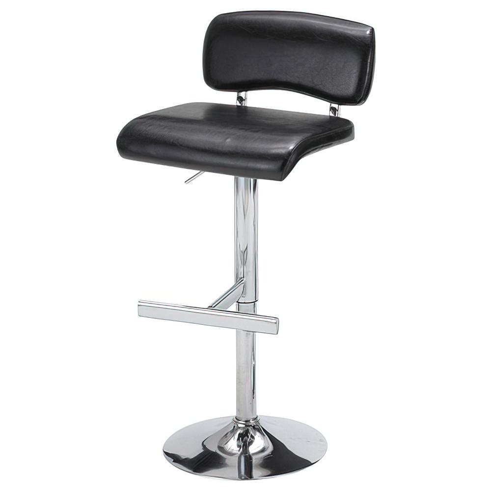 リオ カウンターチェア W460×D480×H840-1050mm ブラック ハイチェア 椅子 昇降式 ミーティングチェア 店舗  オフィス家具
