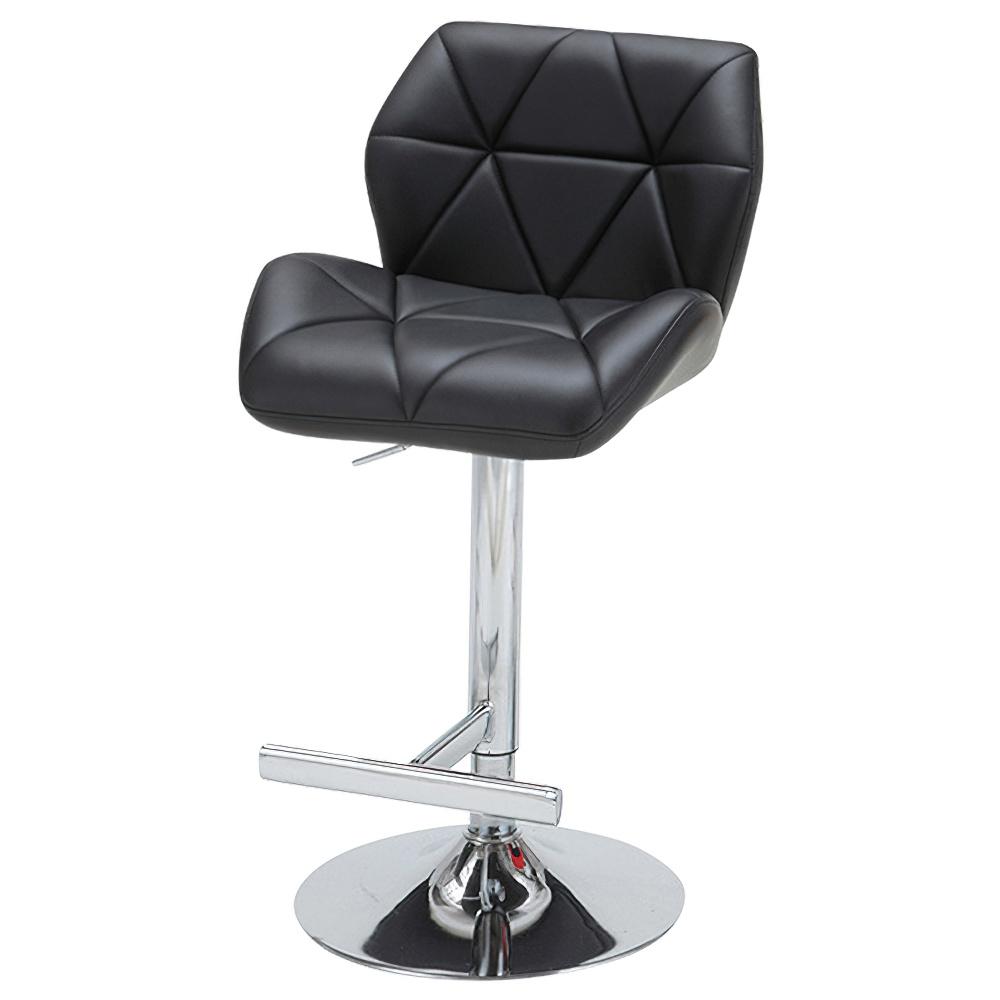 ルス カウンターチェア W500×D570×H900-1110mm ブラック ハイチェア 椅子 昇降式 ミーティングチェア 店舗  オフィス家具