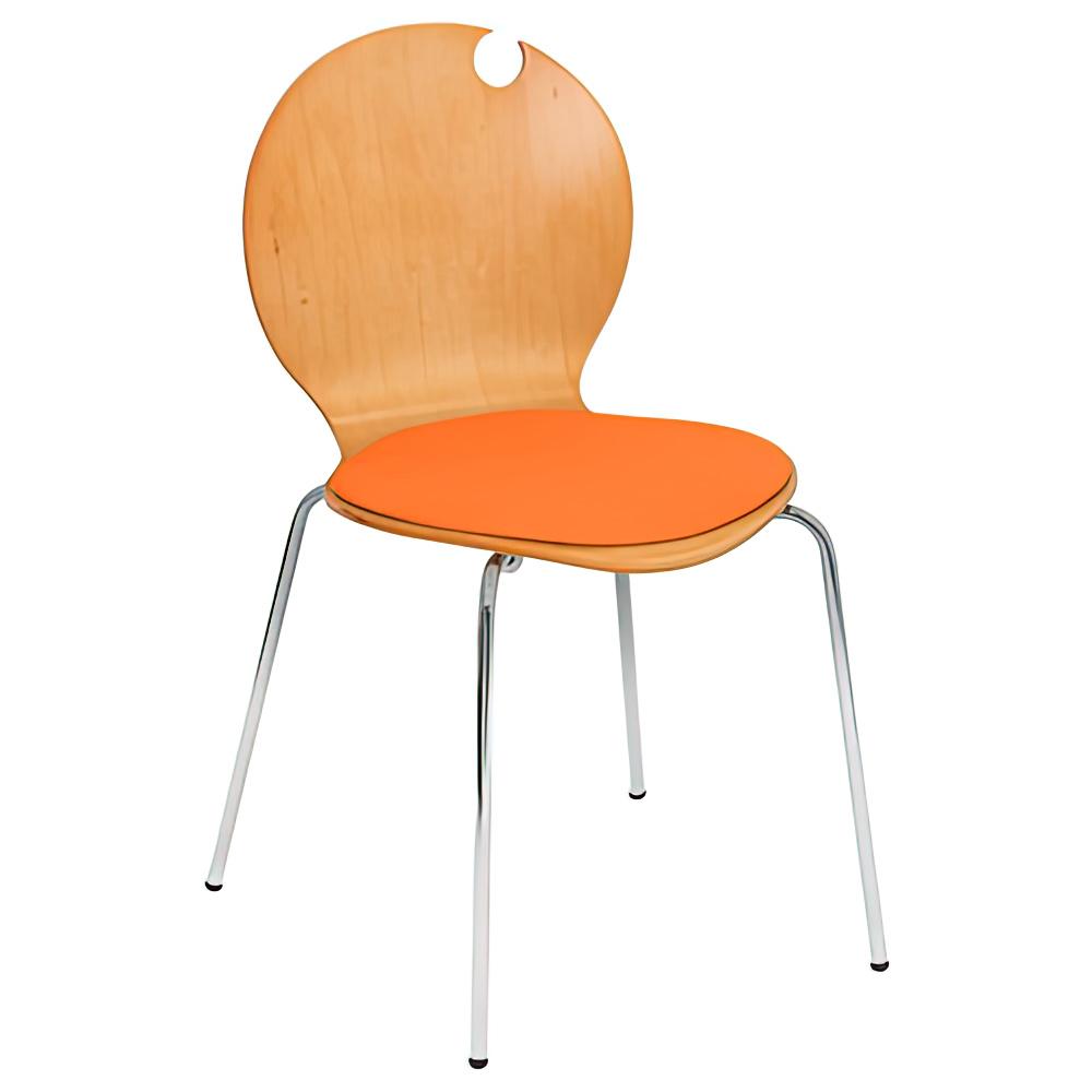 コロナチェア W490×D505×H810mm 会議椅子 オレンジ 会議チェア ミーティングチェア オフィス家具