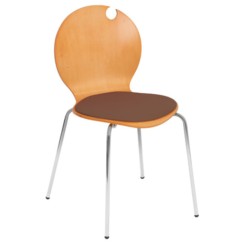 コロナチェア W490×D505×H810mm 会議椅子 ブラウン 会議チェア ミーティングチェア オフィス家具