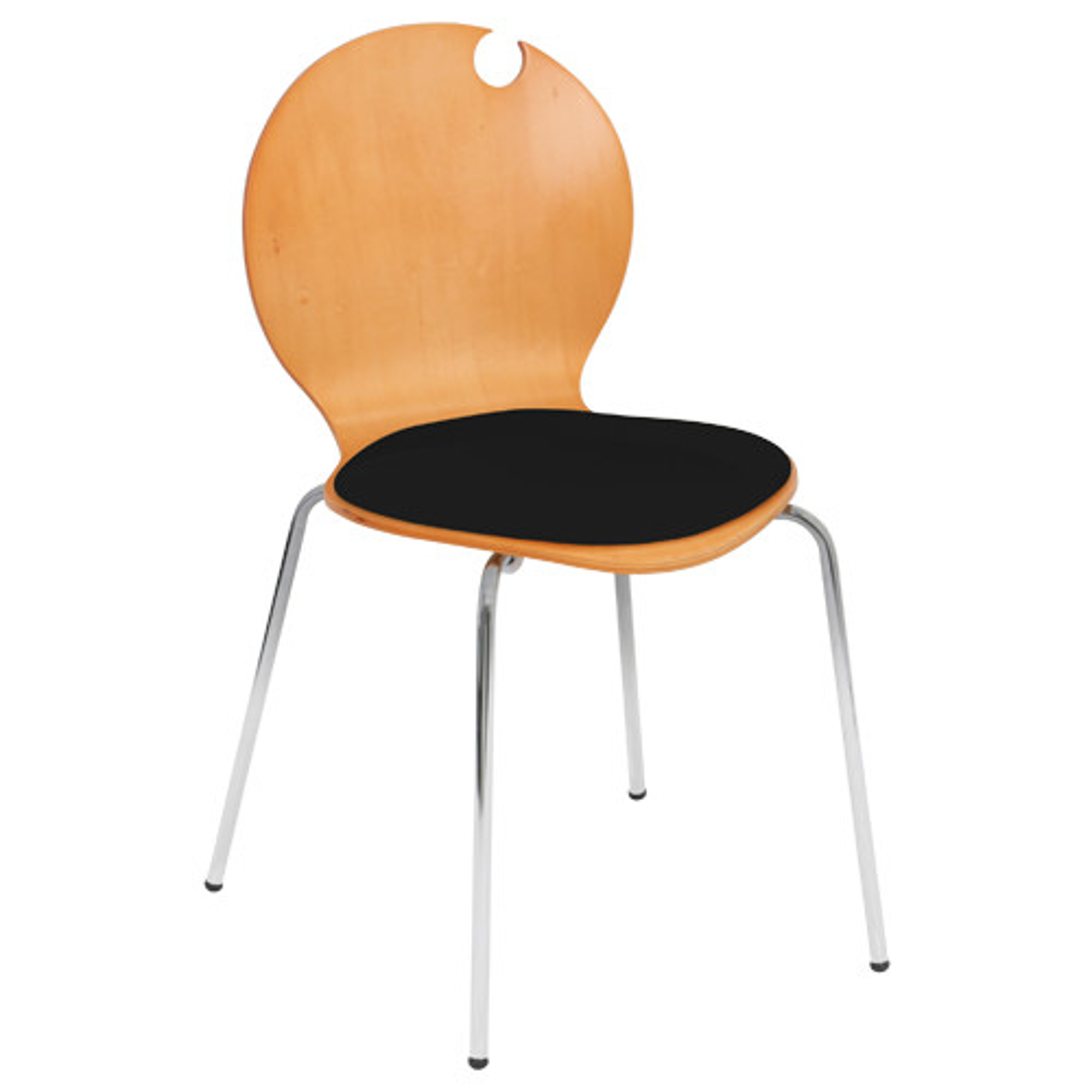コロナチェア W490×D505×H810mm 会議椅子 ブラック 会議チェア ミーティングチェア オフィス家具