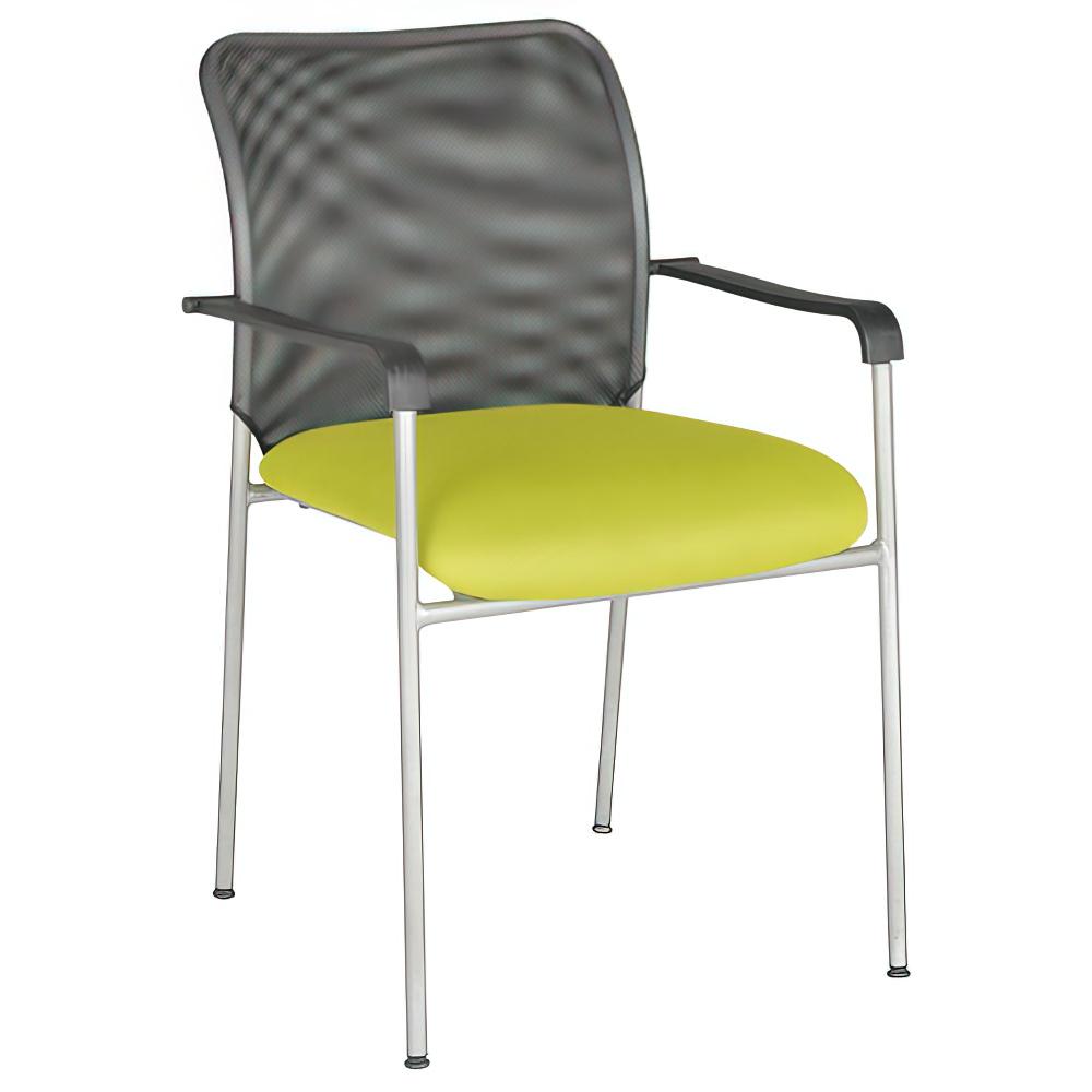 アイメッシュ W520×D450×H835mm スタッキングチェア 会議椅子 グリーン スタックチェア 会議チェア ミーティングチェア オフィス家具