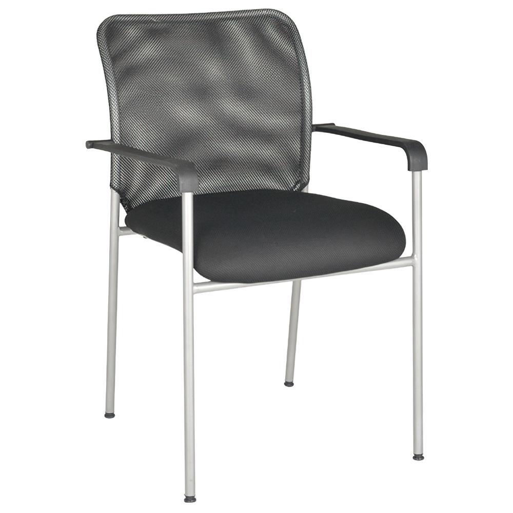 アイメッシュ W520×D450×H835mm スタッキングチェア 会議椅子 ブラック スタックチェア 会議チェア ミーティングチェア オフィス家具