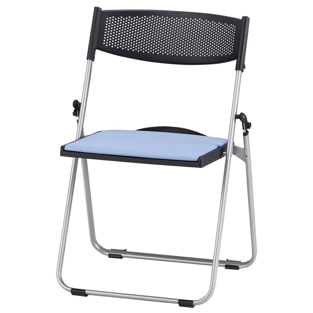 オフィス用折りたたみ椅子NFA700 W518 D455 H744  ブルー