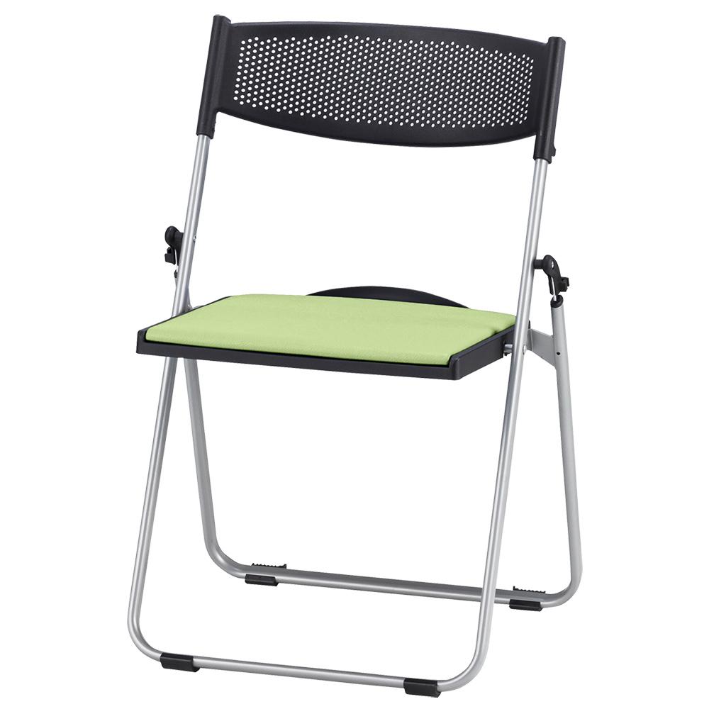 オフィス用折りたたみ椅子NFA700 W518 D455 H744  グリーン