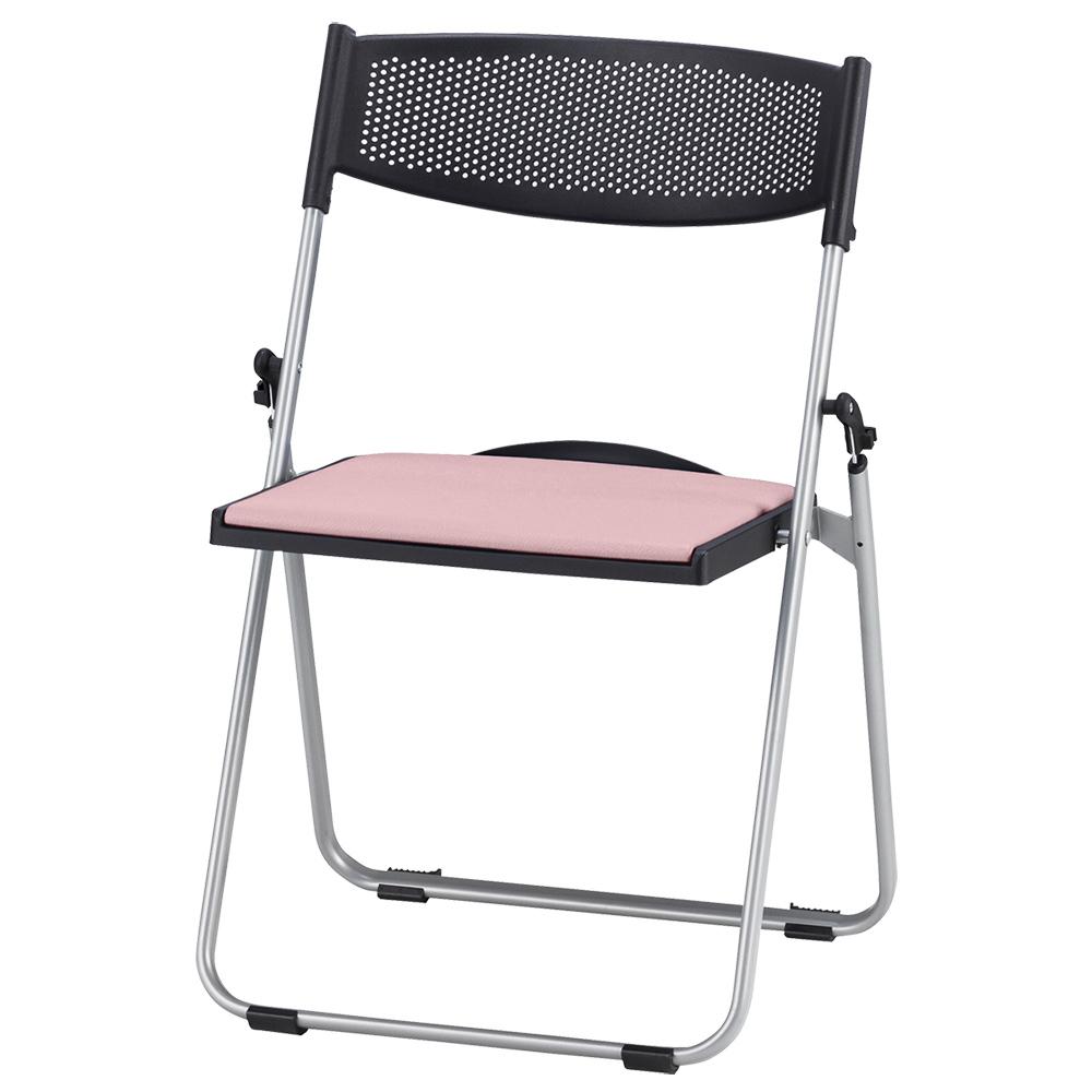 オフィス用折りたたみ椅子NFA700 W518 D455 H744  ピンク