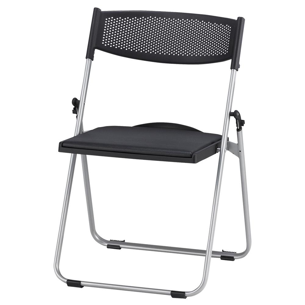 オフィス用折りたたみ椅子NFA700 W518 D455 H744  ブラック