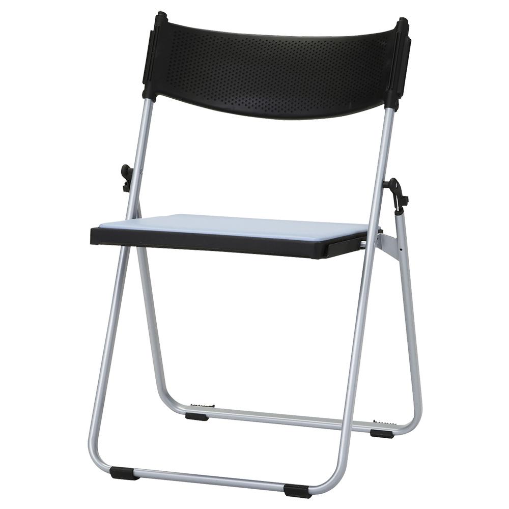 オフィス用折りたたみ椅子NFA W518 D451 H743) ブルー