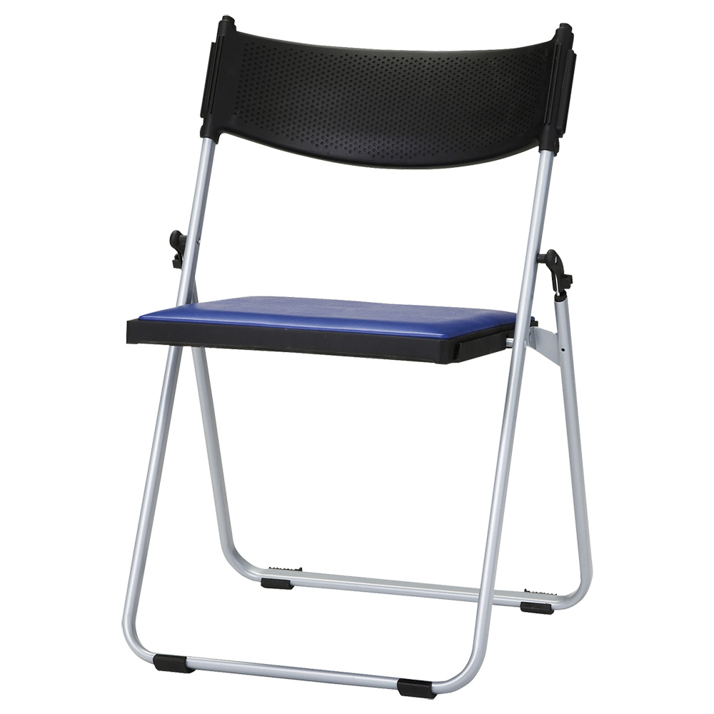 オフィス用折りたたみ椅子NFA W518 D451 H743) ネイビーブルー