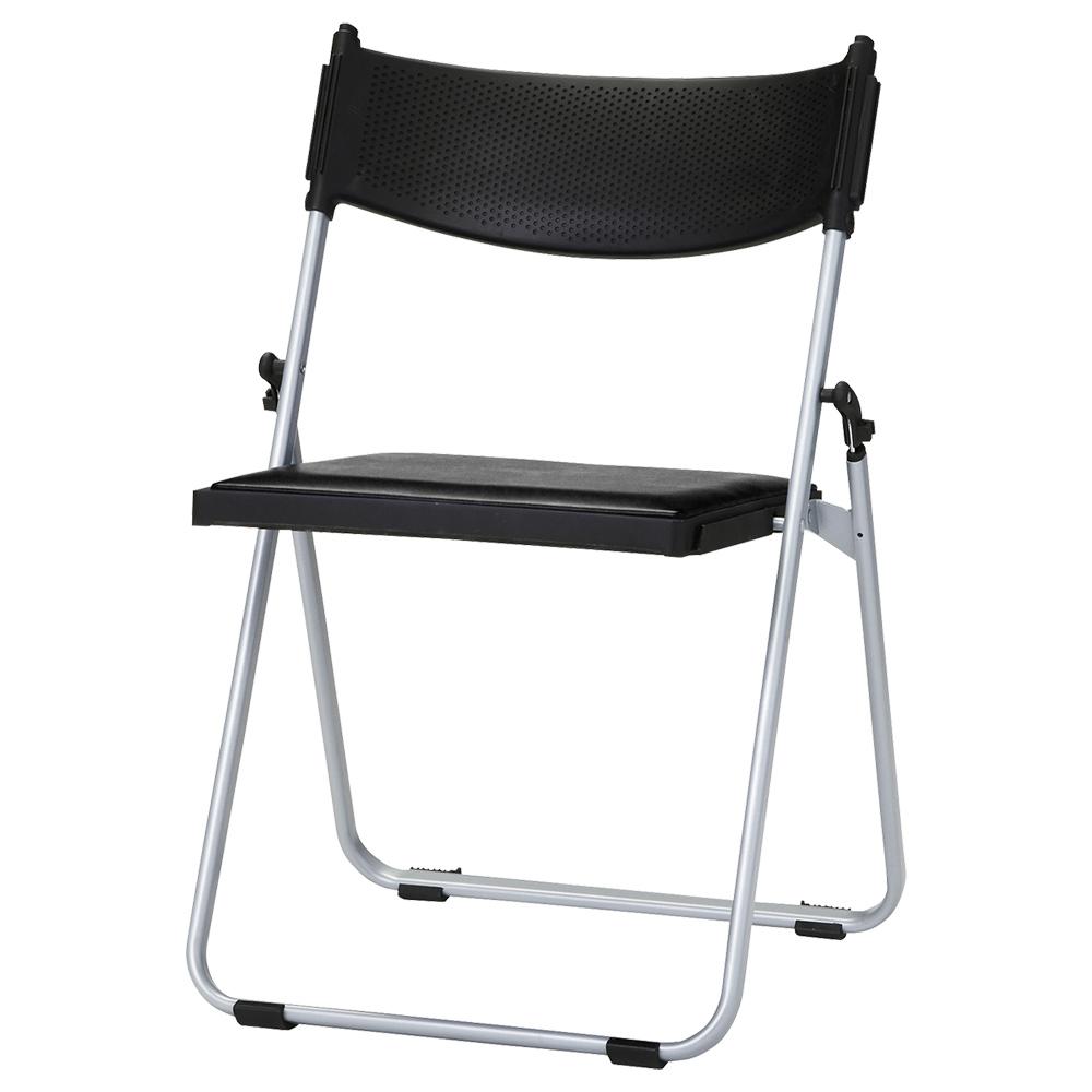オフィス用折りたたみ椅子NFA W518 D451 H743) ブラック