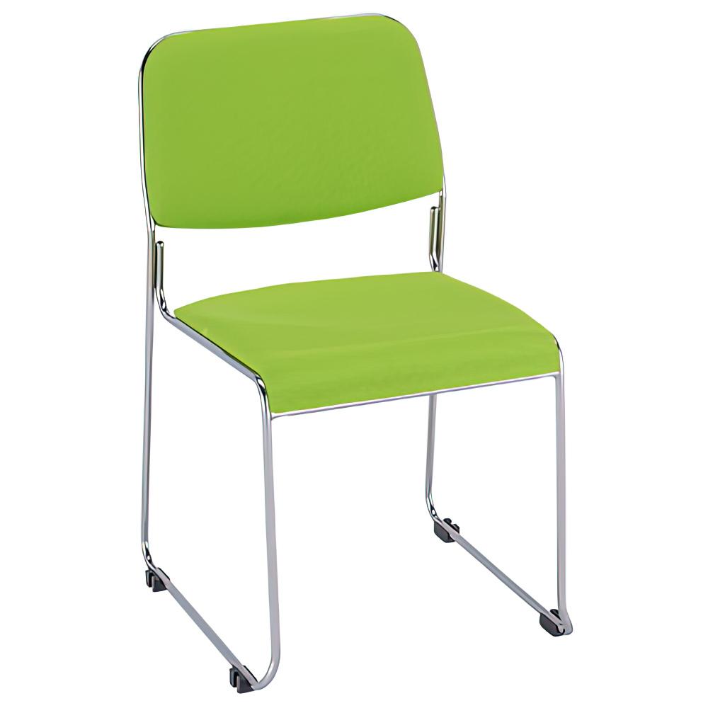 ニューグレッジョ W495×D535×H786mm スタッキングチェア 会議椅子 グレー スタックチェア 会議チェア ミーティングチェア オフィス家具