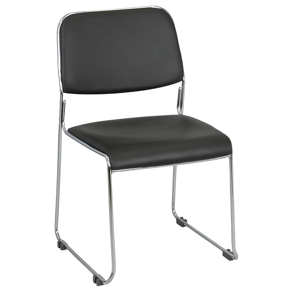 ニューグレッジョ W495×D535×H786mm  スタッキングチェア 会議椅子 ブラック スタックチェア 会議チェア ミーティングチェア オフィス家具