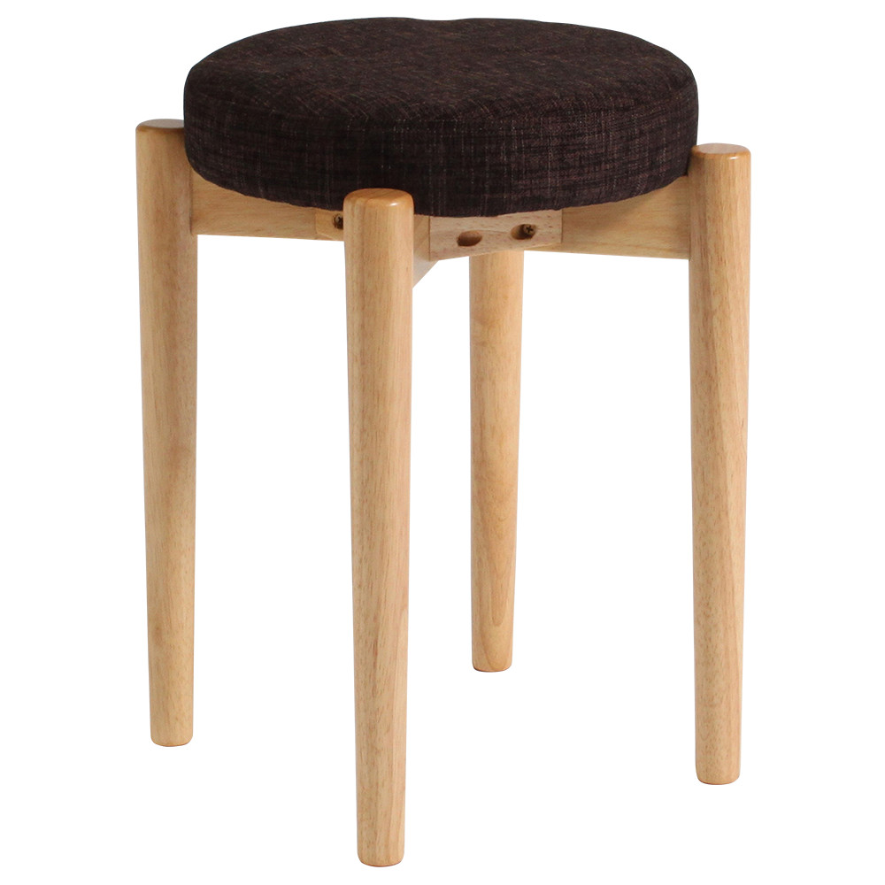 ホルント W400×D400×H465mm 4脚セット スツール 丸椅子 スタッキングチェア 簡易椅子 木製脚 オフィス家具