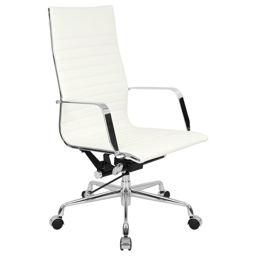 オフィス用ビジネスチェアIT ハイバック W550 D600 H1030-1110  ホワイト