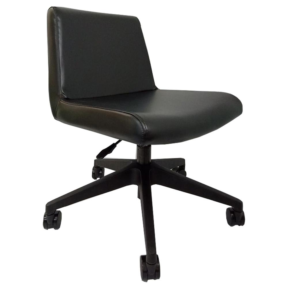 マオ カウンターチェア W650 D685 H735-825 ブラック チェア ミーティングチェア キャスター スタックなし 椅子 バースツール オフィス クッション モスグリーン