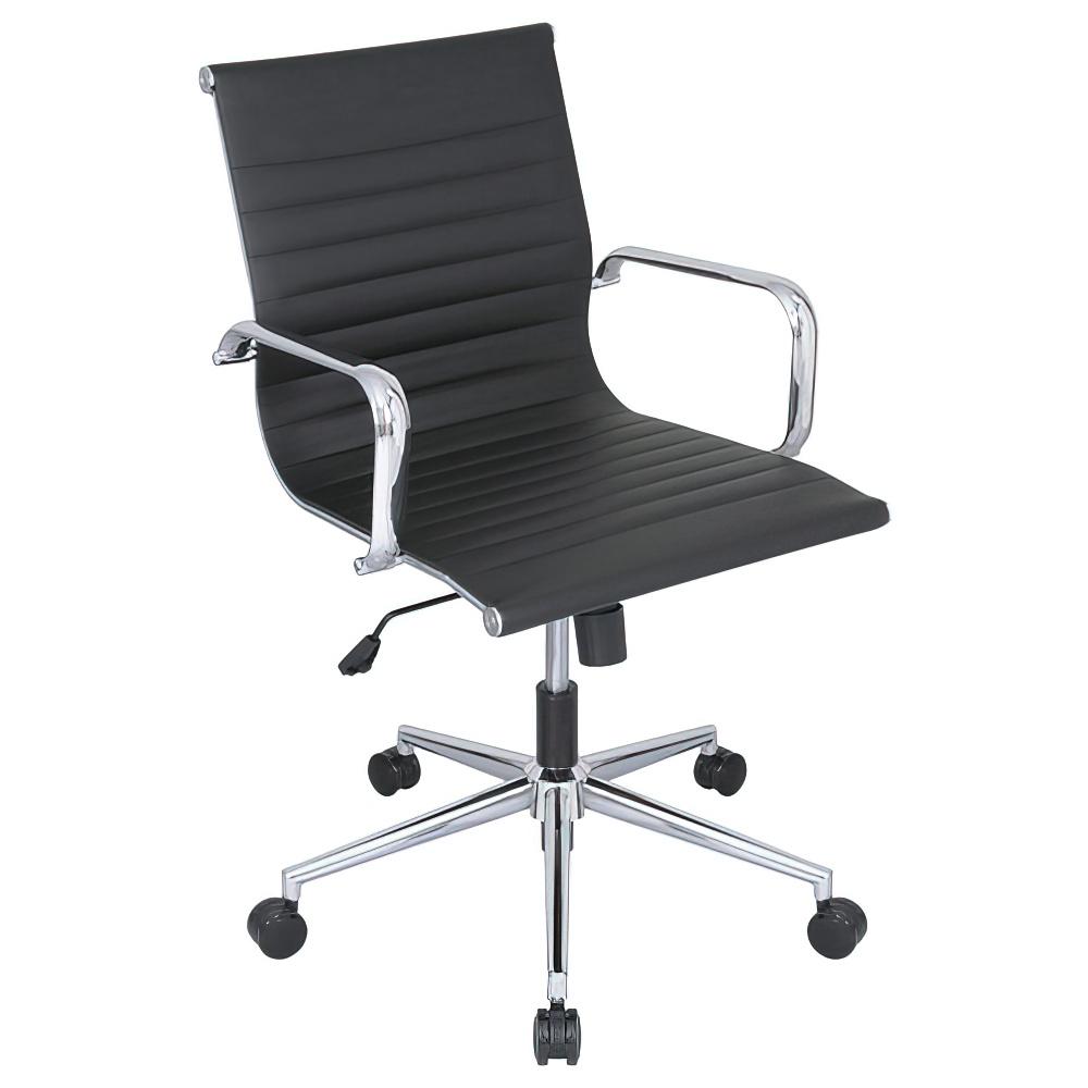 ミッドクルー W594×D642×H890-990mm ミーティングチェア 会議椅子 ブラック ミーティングチェア 会議チェア オフィス家具