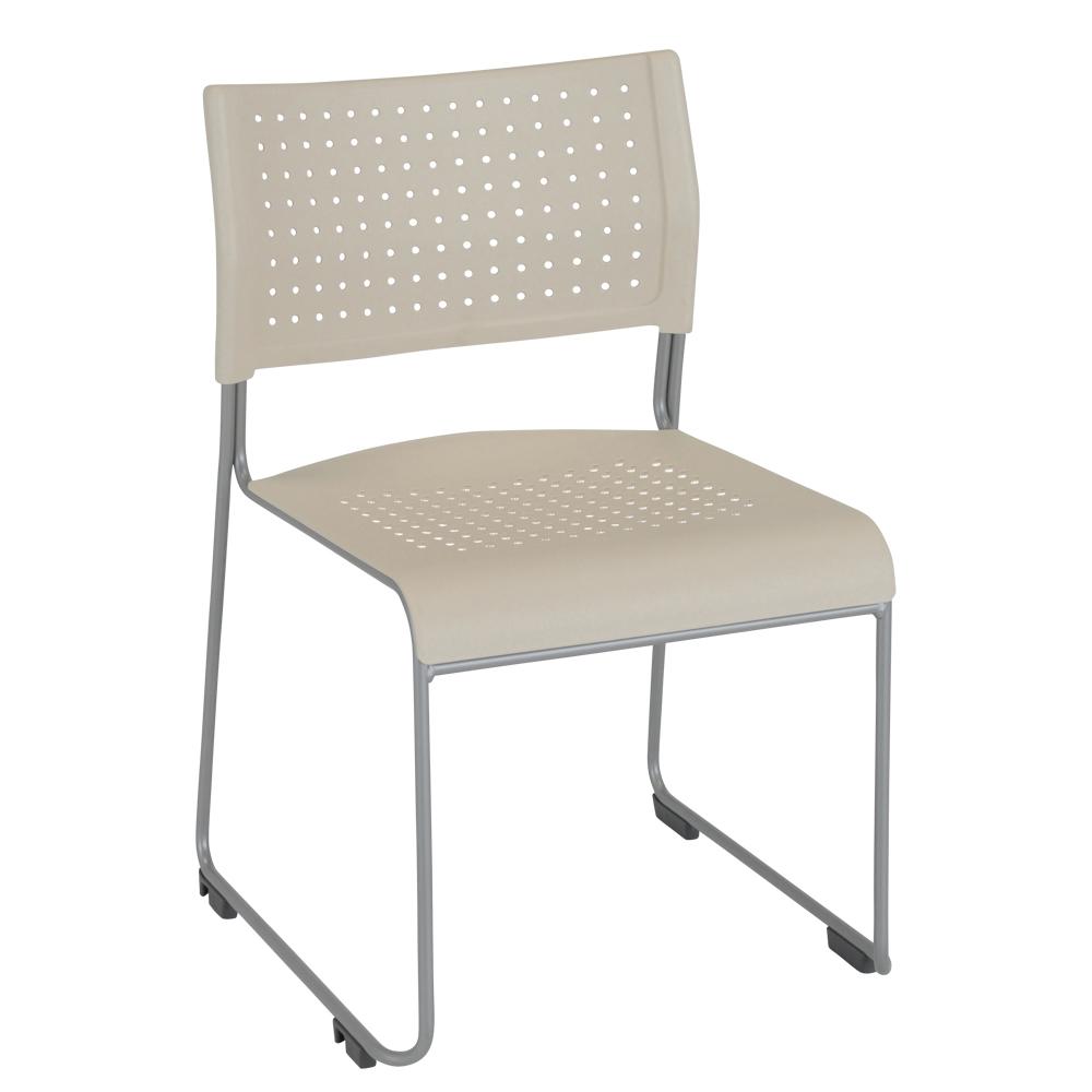 パスチェPP W500×D525×H750mm スタッキングチェア 会議椅子 アイボリー スタックチェア 会議チェア ミーティングチェア オフィス家具