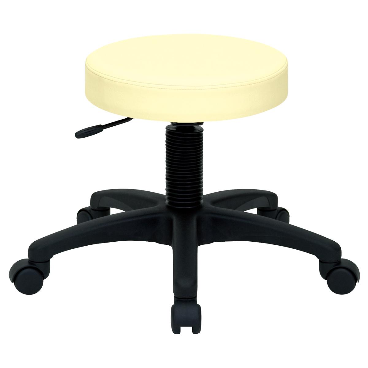 ホスピタルチェア W530 D550 H420-500 アイボリー チェア ミーティングチェア スツール 椅子 ラウンジチェア キャスター オフィス メーカー アルコール デザイン