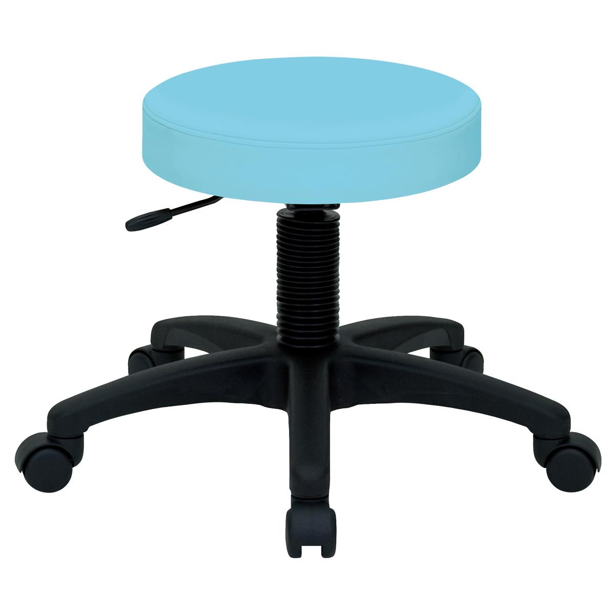ホスピタルチェア W530 D550 H420-500 アクア チェア ミーティングチェア スツール 椅子 ラウンジチェア キャスター オフィス メーカー アルコール デザイン 丸