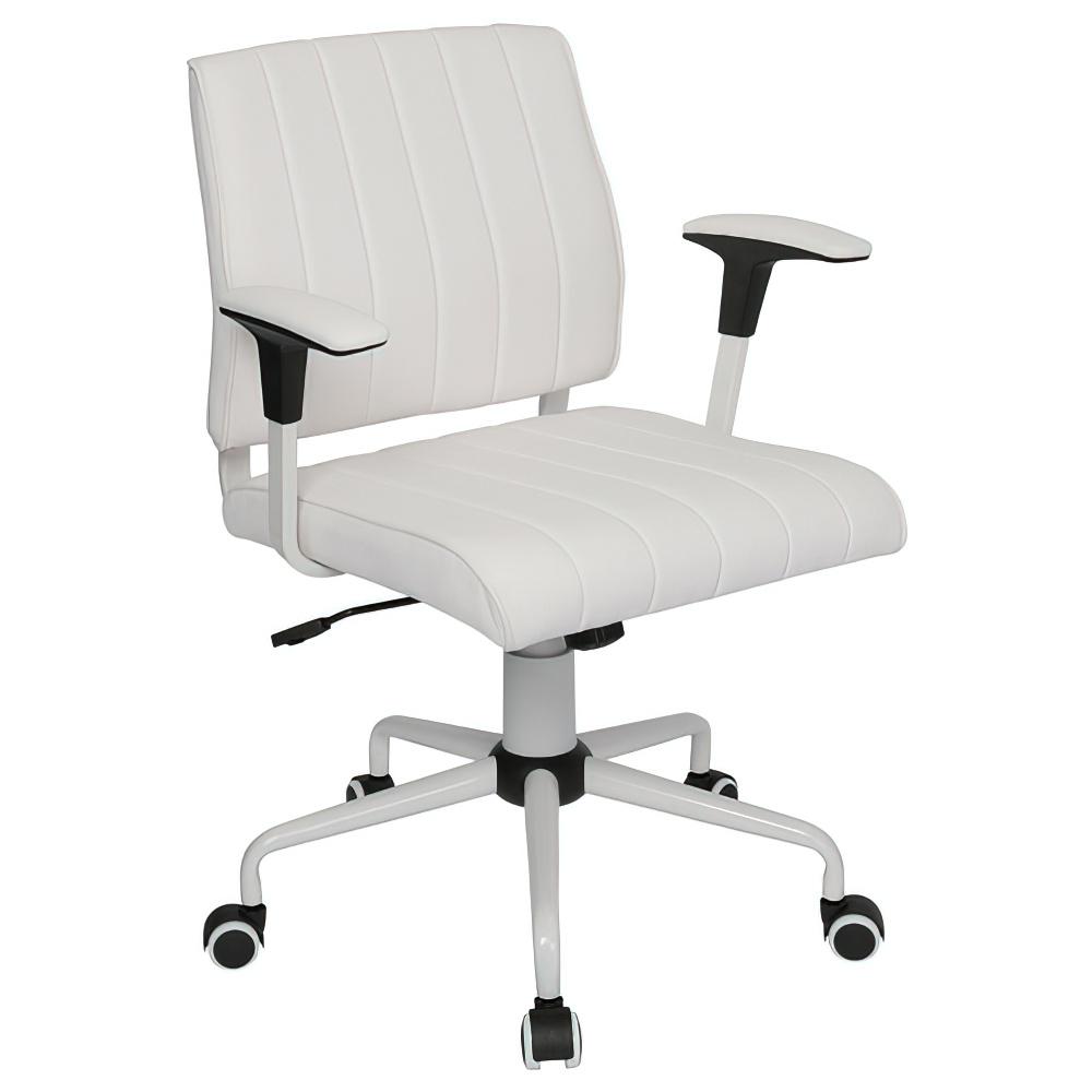 ビジョン W605×D570×H805-880mm ミーティングチェア 会議椅子 ホワイト ミーティングチェア 会議チェア オフィス家具