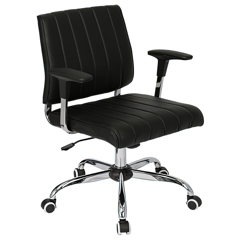 ビジョン W605×D570×H805-885mm ミーティングチェア 会議椅子 ブラック ミーティングチェア 会議チェア オフィス家具