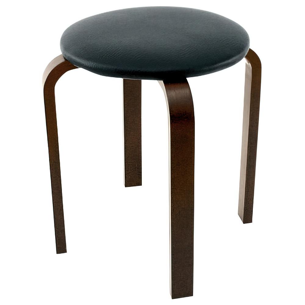 パセリ PUスツール W400×D400×H440mm 5脚セット 丸椅子 ブラック ラウンドスツール オフィス家具