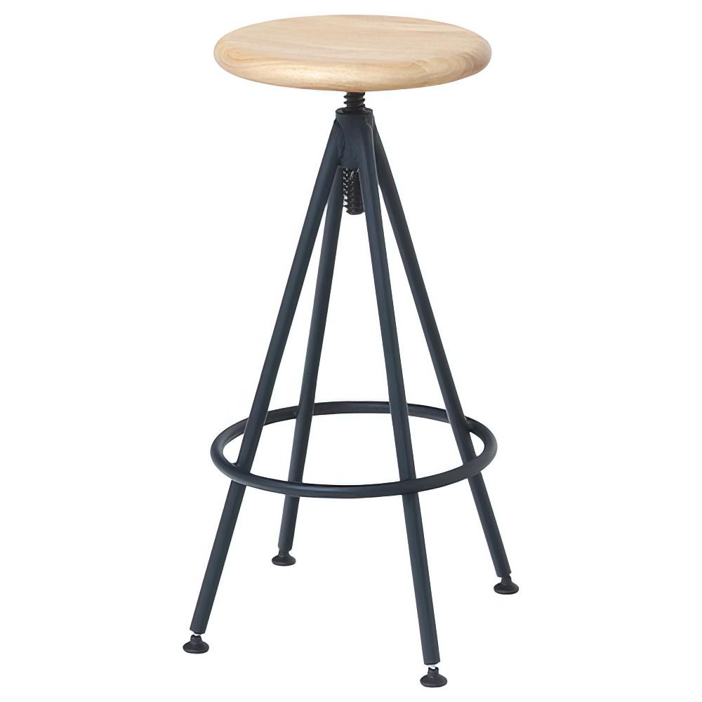 タオ カウンターチェア W405×D405×H630-720mm スツール 丸椅子 ナチュラル ラウンドスツール オフィス家具
