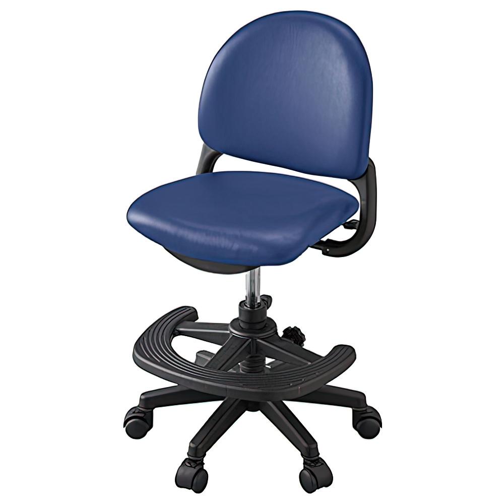 ベストフィットチェア W462×D501-566×H7850-895mm ネイビーブルー 学童チェア 塾用学習椅子 スタディチェア 学童椅子 オフィス家具