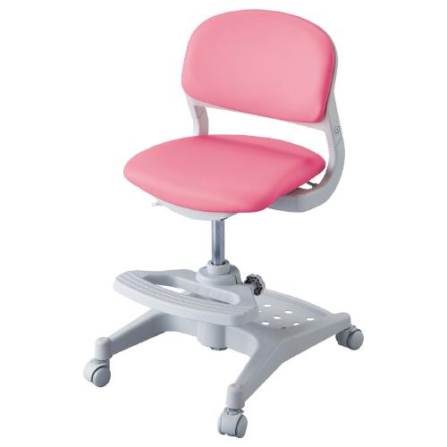 ハイブリッドチェア W456×D525-550×H765-875mm ビビッドピンク 学童チェア 塾用学習椅子 スタディチェア 学童椅子 オフィス家具