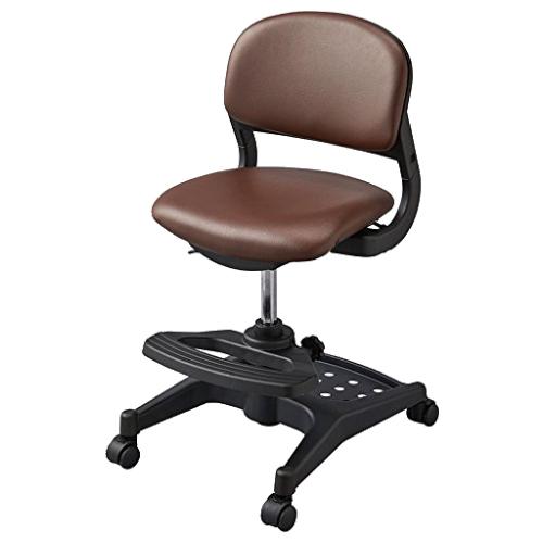 ハイブリッドチェア W456×D525-550×H765-875mm ミディアムブラウン 学童チェア 塾用学習椅子 スタディチェア 学童椅子 オフィス家具