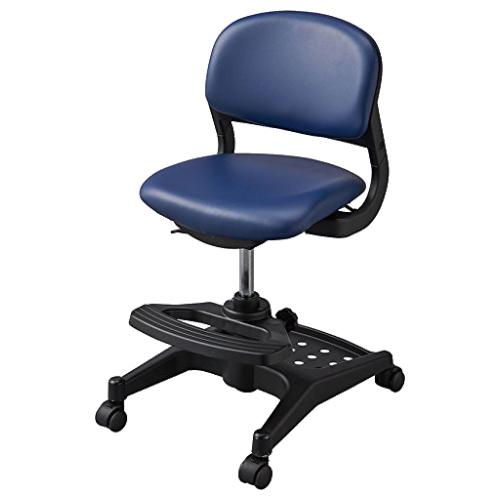 ハイブリッドチェア W456×D525-550×H765-875mm ネイビーブルー 学童チェア 塾用学習椅子 スタディチェア 学童椅子 オフィス家具
