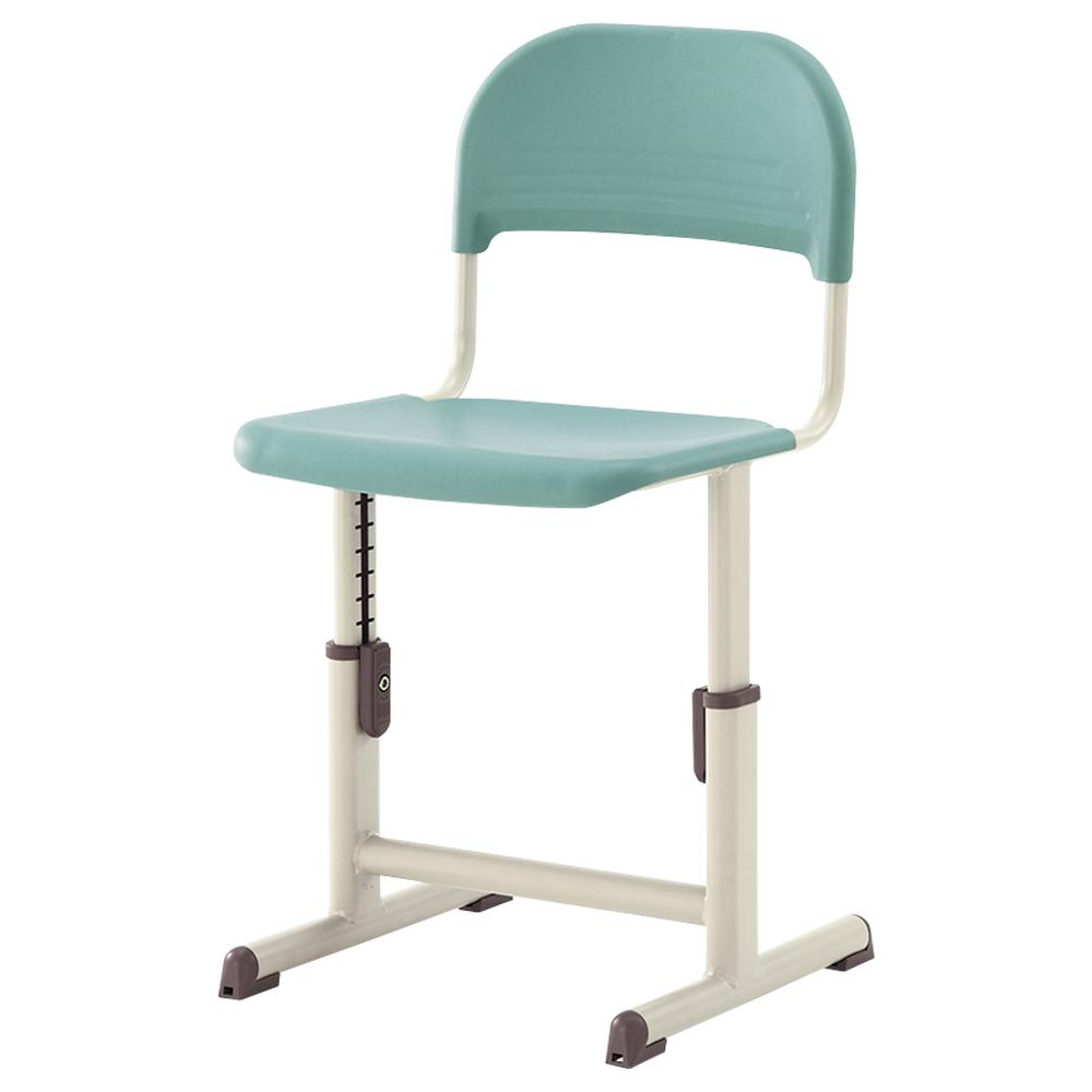 オフィス用生徒用樹脂チェア YEC-601A型 W395 D394 SH260-340  グリーン