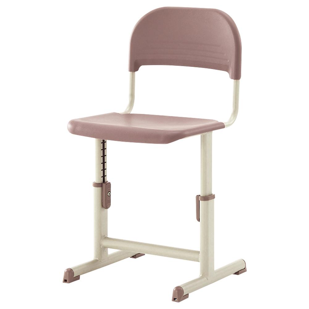 オフィス用生徒用樹脂チェア YEC-601A型 W395 D394 SH260-340  ブラウン