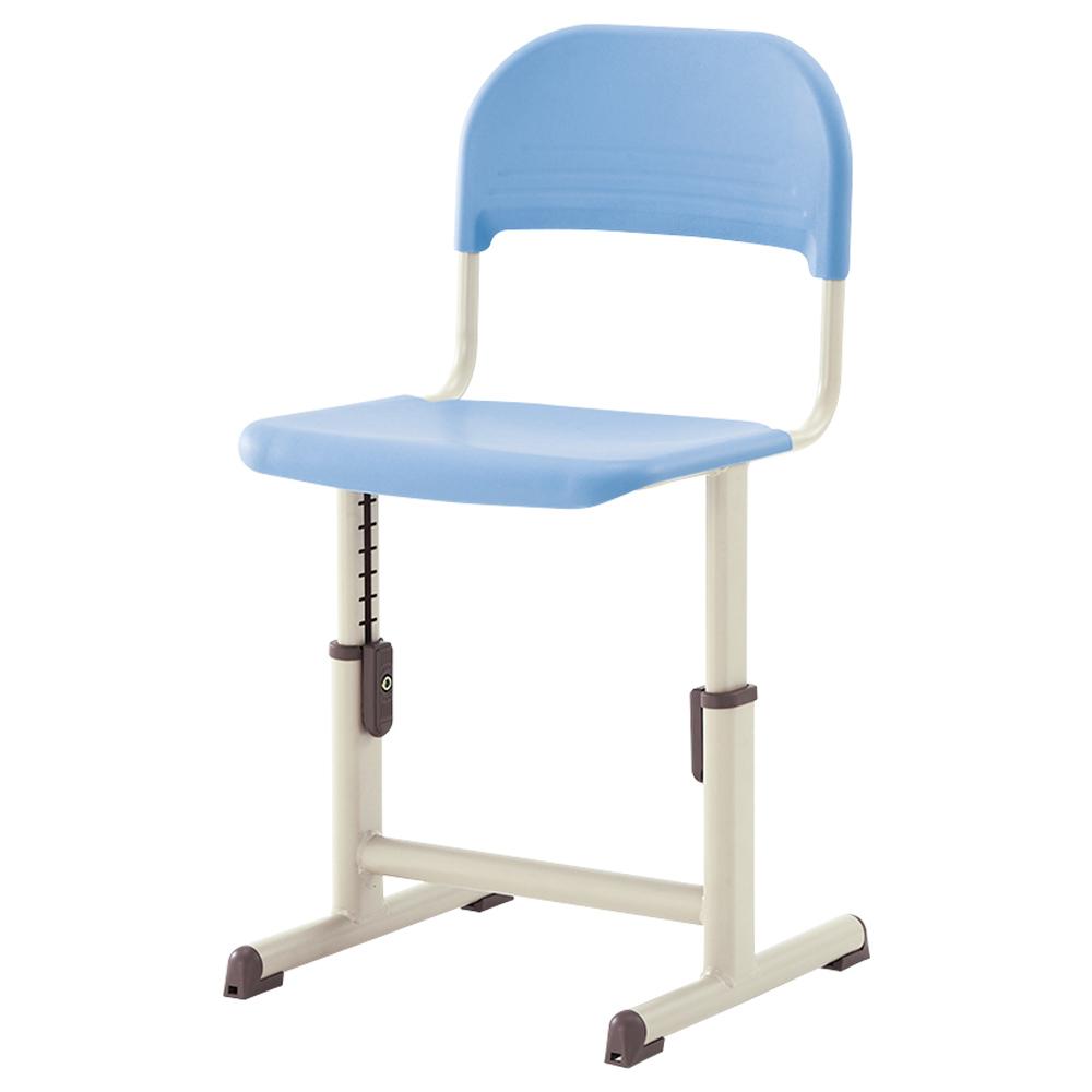 オフィス用生徒用樹脂チェア YEC-601A型 W395 D394 SH260-340  ブルー