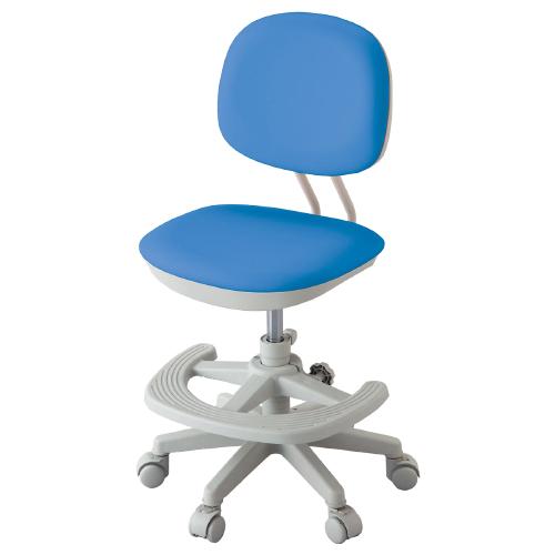 ジャストフィットチェア W462×D501-566×H820-930mm パッションブルー 学童チェア 塾用学習椅子 スタディチェア 学童椅子 オフィス家具