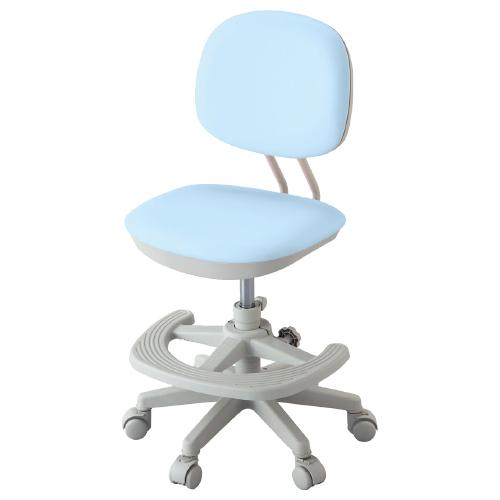 ジャストフィットチェア W462×D501-566×H820-930mm ライトブルー 学童チェア 塾用学習椅子 スタディチェア 学童椅子 オフィス家具