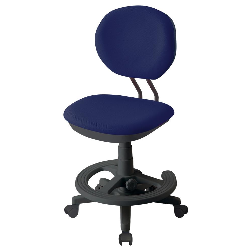 オフィス用ジャストフィットチェア W475 D485-560 H810-920  ネイビーブルー