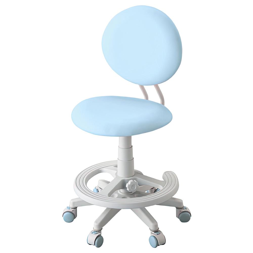 回転ラブリーチェア W462×D501-566×H820-930mm ライトブルー 学童チェア 塾用学習椅子 スタディチェア 学童椅子 オフィス家具
