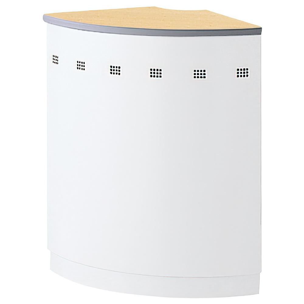 NKハイカウンター専用90度外コーナー 604R×H950mm ペールアルダー エントランスカウンター 受付カウンター オフィスカウンター オフィス家具