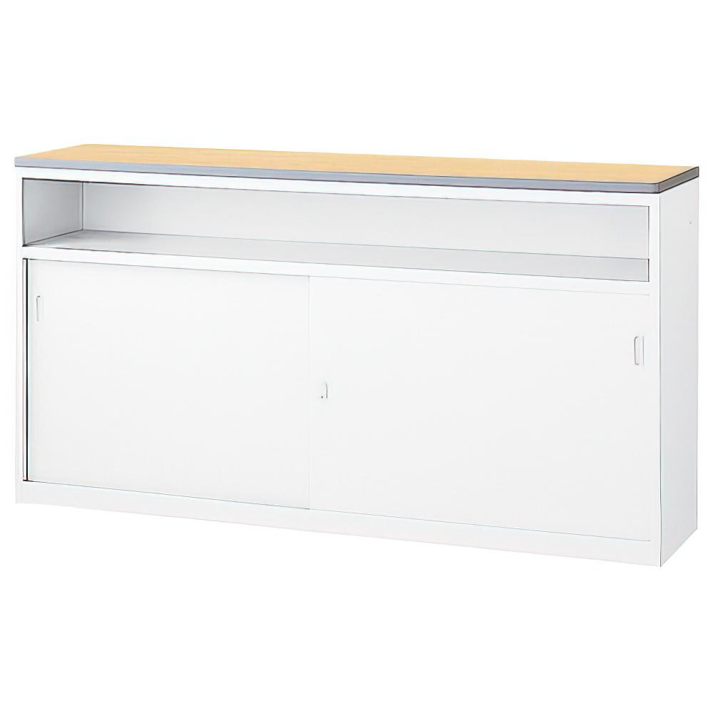 収納U型NKハイカウンター W1800×D454×H950mm ペールアルダー エントランスカウンター 受付カウンター オフィスカウンター オフィス家具