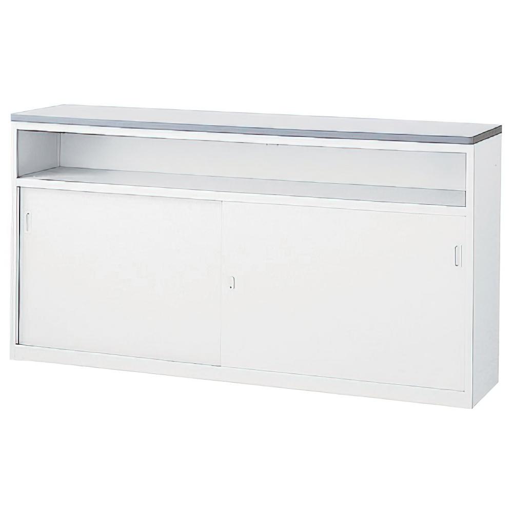 収納U型NKハイカウンター W1800×D454×H950mm ホワイト エントランスカウンター 受付カウンター オフィスカウンター オフィス家具