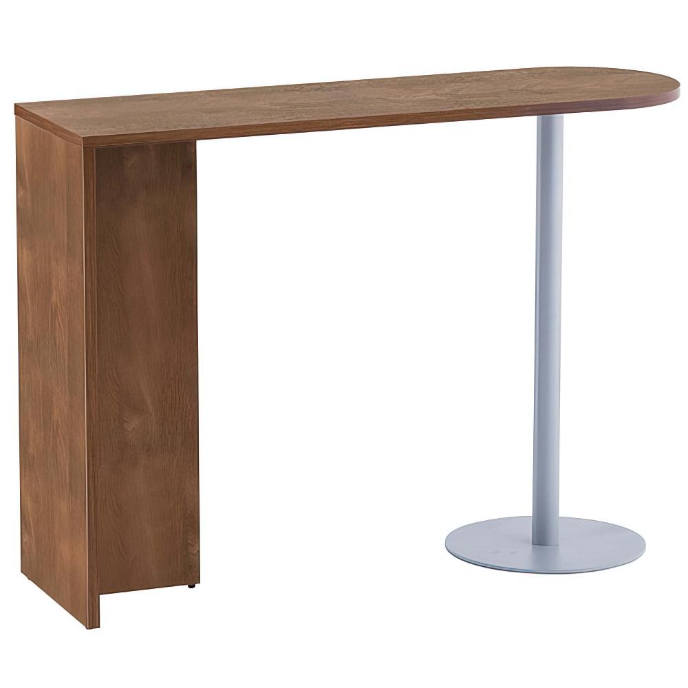 ジェイ ハイカウンター専用サイドテーブル W1400×D450×H1000mm ウォルナット エントランスカウンター 受付カウンター オフィスカウンター オフィス家具