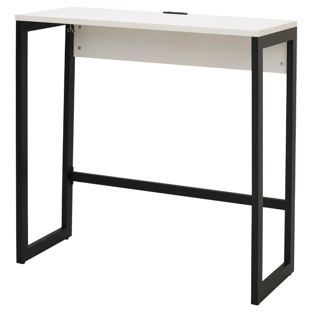リスム ハイデスク W1000 D450 H1050 ホワイト テーブル 用途別ワークテーブル ハイテーブル オフィス家具 机 デスク タブレット カラー コンセント カバン コー