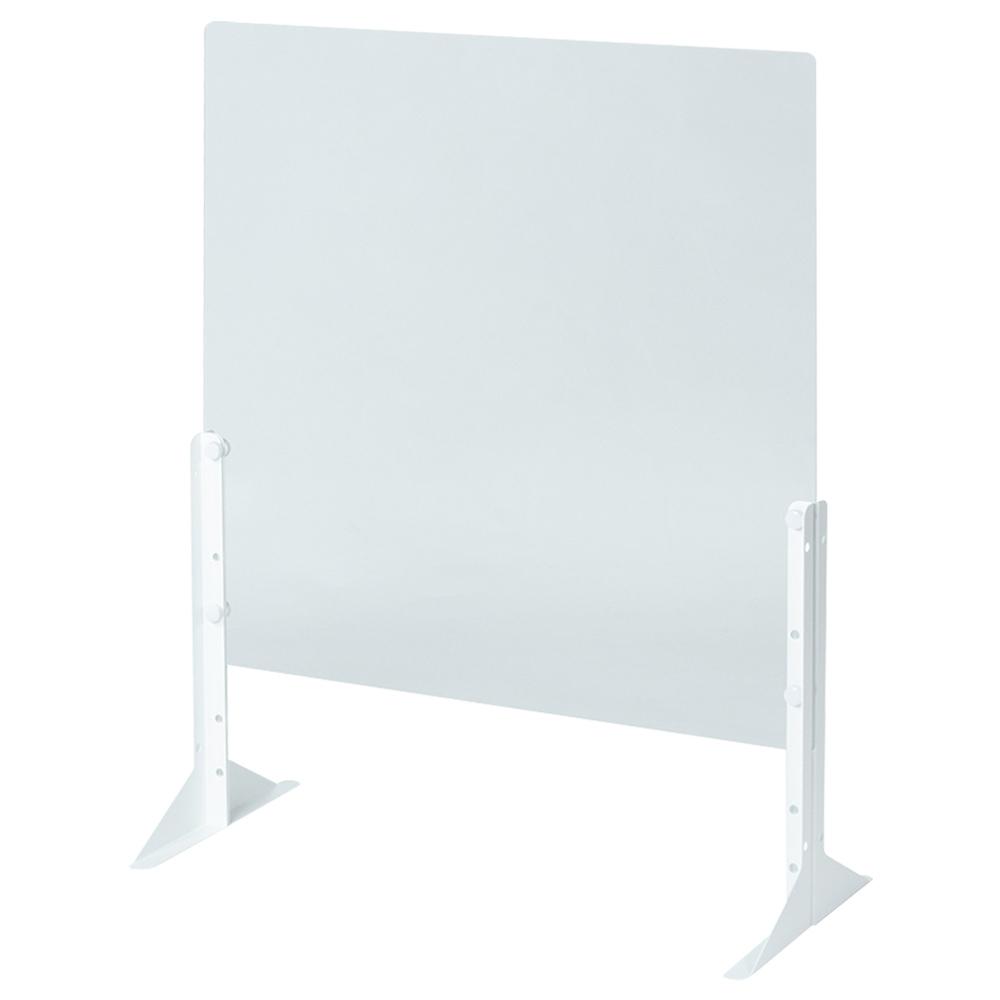 オフィス用卓上アクリルパネル W600 D263 H600/650/750  透明・半透明