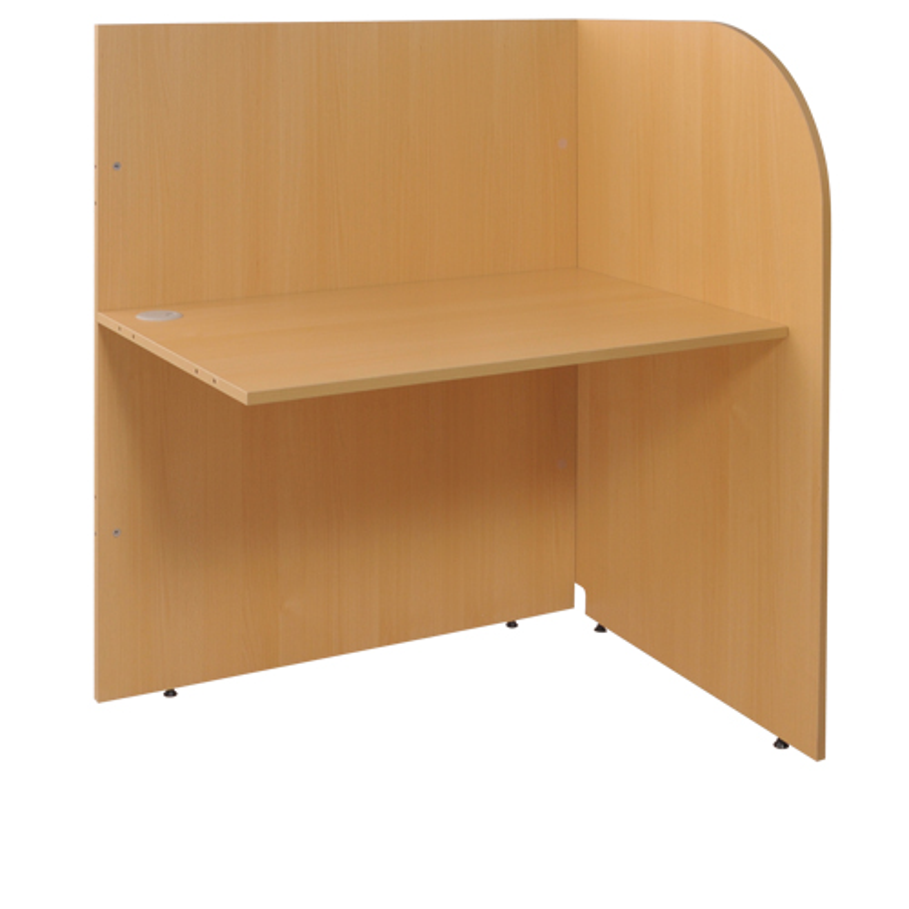 多目的個別ブース W1000×D700×H1200mm パーソナルブース キャレルデスク 連結型 オフィス家具