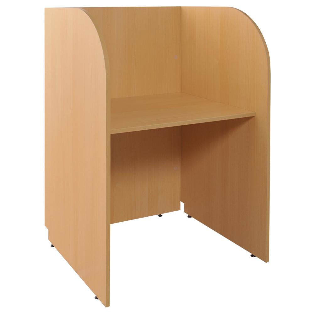多目的個別ブース W800×D700×H1200mm パーソナルブース キャレルデスク 基本型 オフィス家具