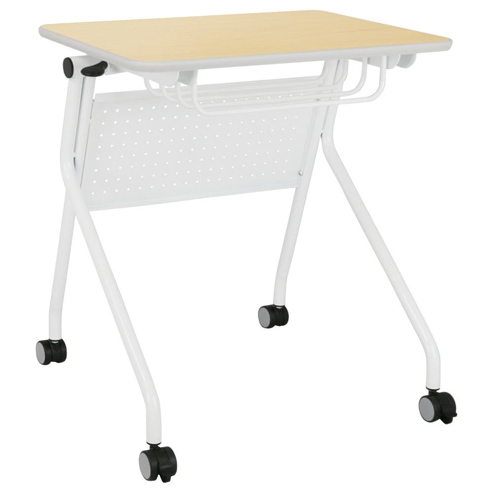 学習用フラップデスク W650×D590×H700mm ナチュラル 学童デスク 塾用学習机 折りたたみデスク オフィス家具