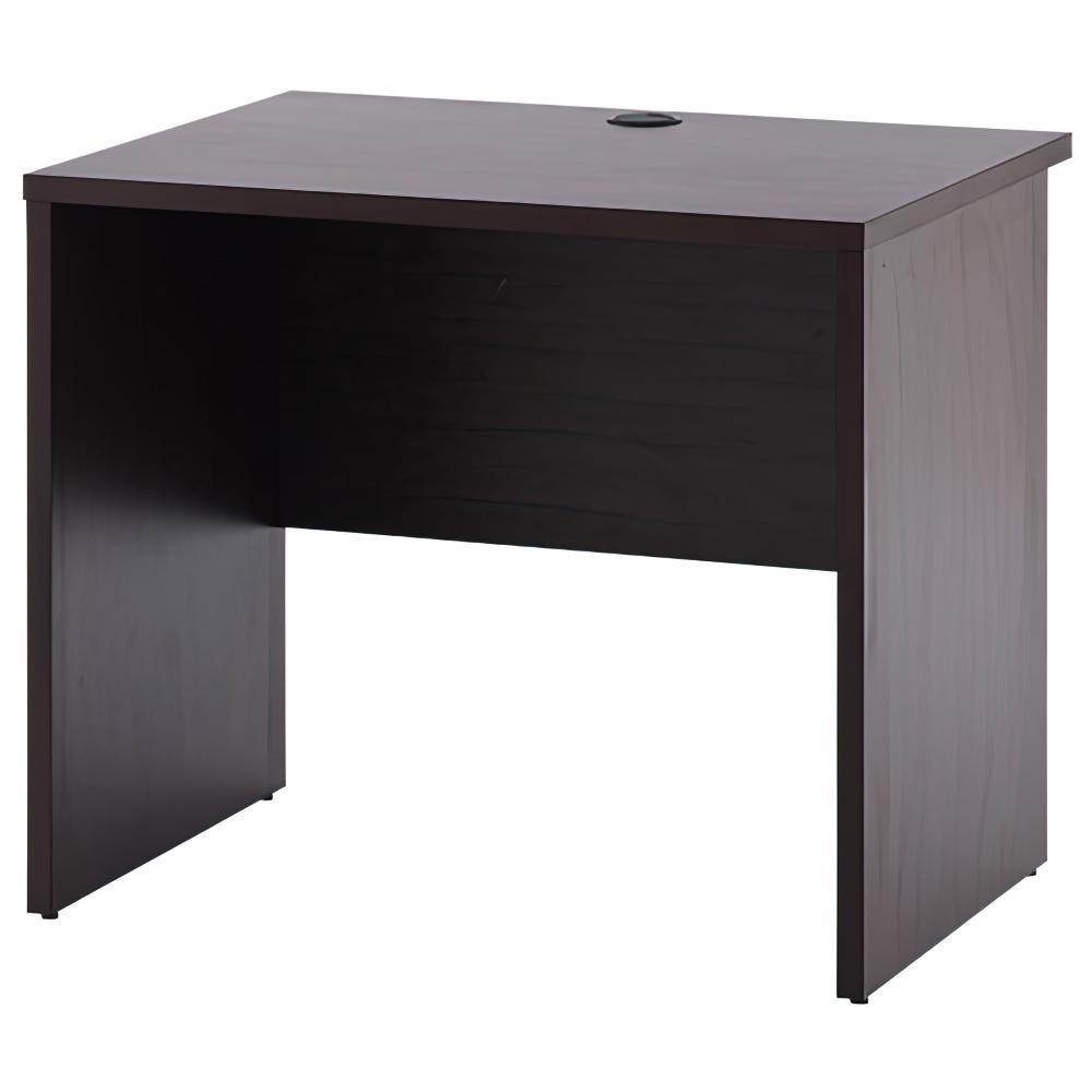 ノルム ウッドデスクII W800×D600×H700mm ダークブラウン ワークデスク 木製 平机 平デスク 木目 オフィス家具