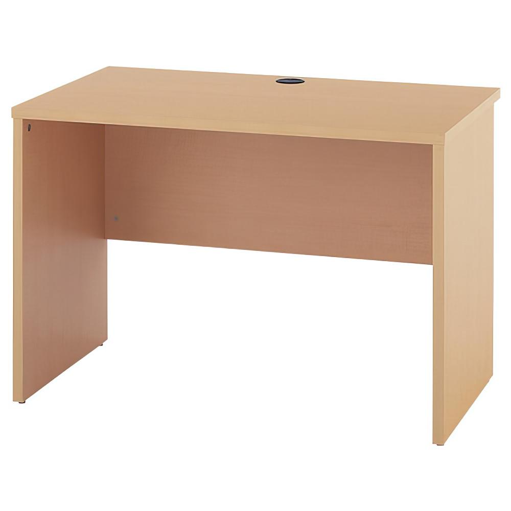 ノルム ウッドデスクII W1000×D600×H700mm ナチュラル ワークデスク 木製 平机 平デスク 木目 オフィス家具