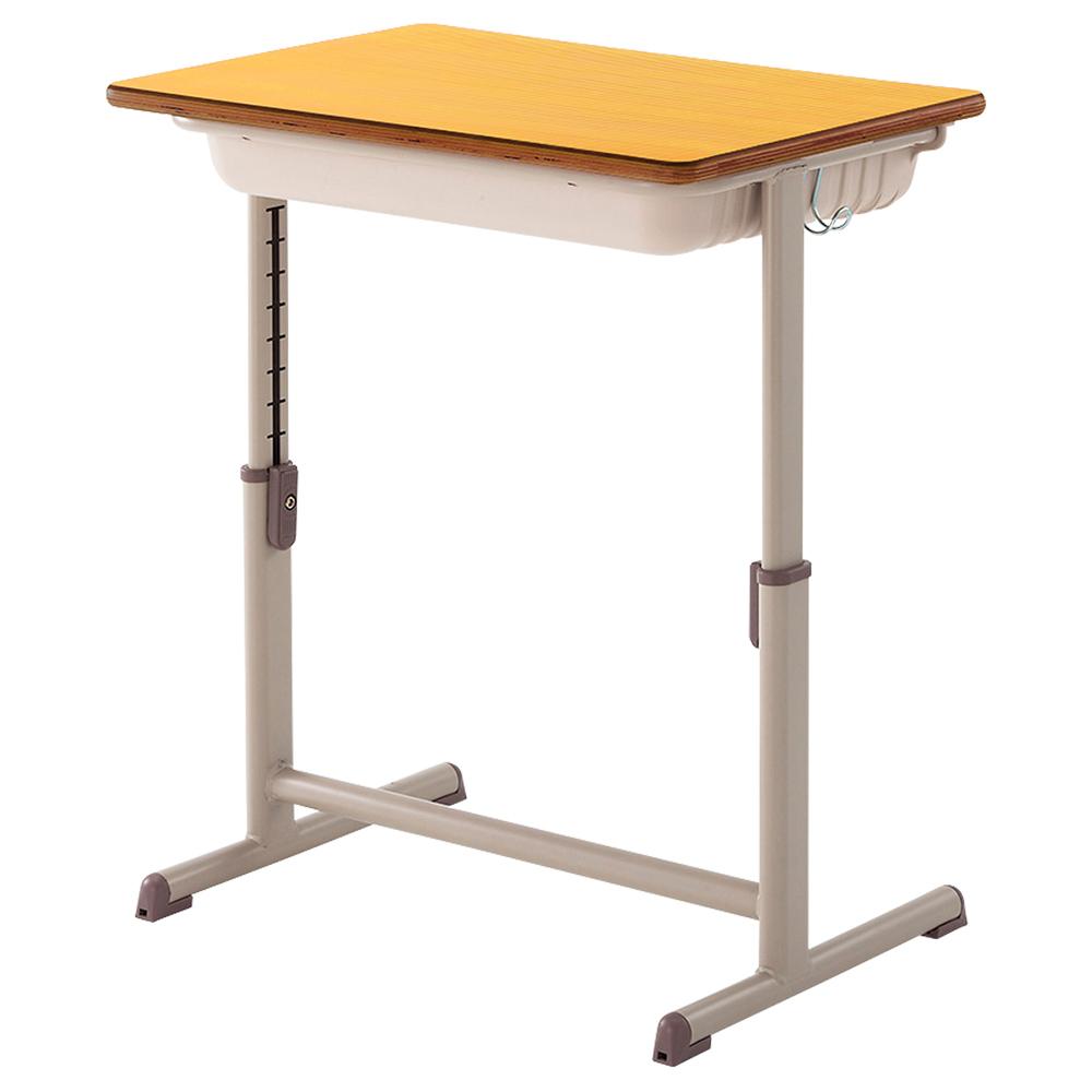 生徒用デスク YED-601A型 W650×D450×H460-760mm 軽ST2G Lサイズ 学童デスク 塾用学習机 学童机 学校机 オフィス家具